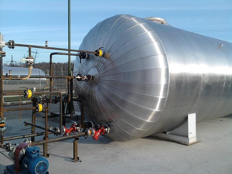 Теплоизоляция резервуаров и деаэраторов и окожушивание металлом